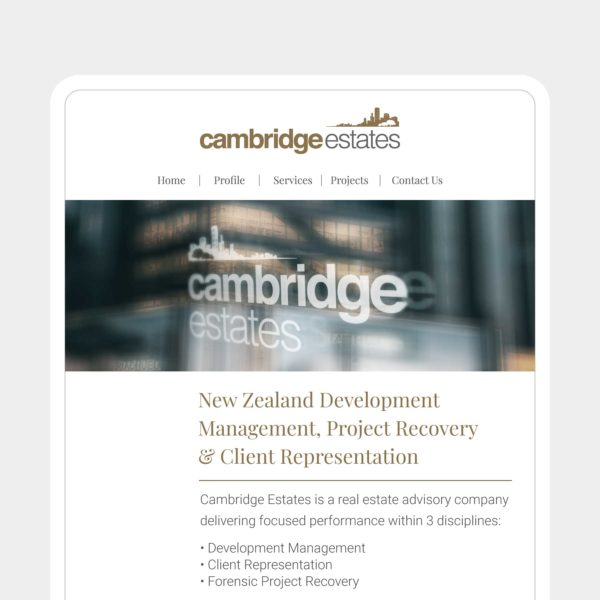 Cambridge Estates Website