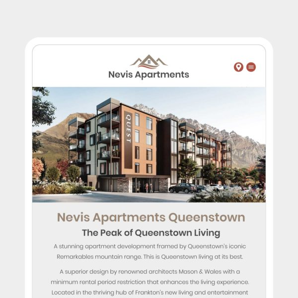 Nevis Apartments Website