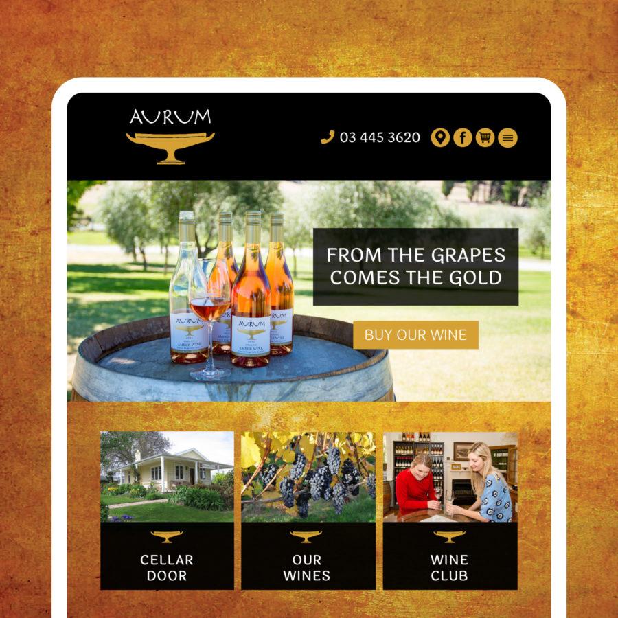 Aurum Wines Website