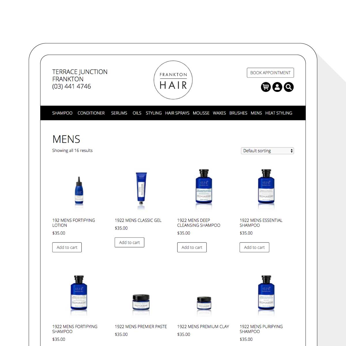 Frankton Hair Shop Website