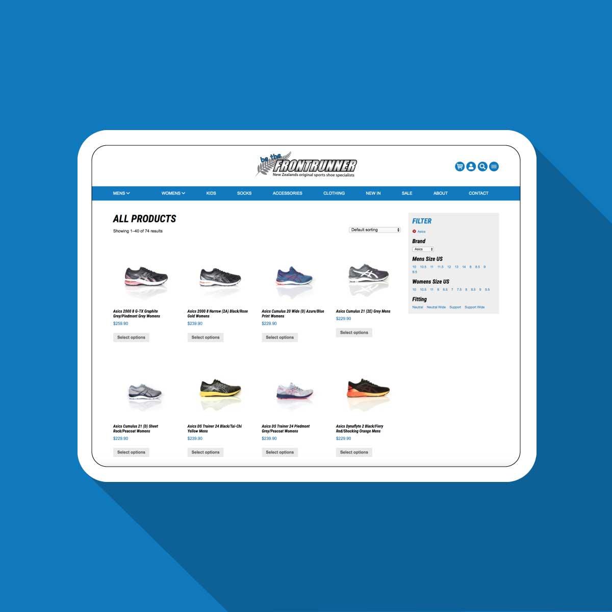 Frontrunner Shop Website