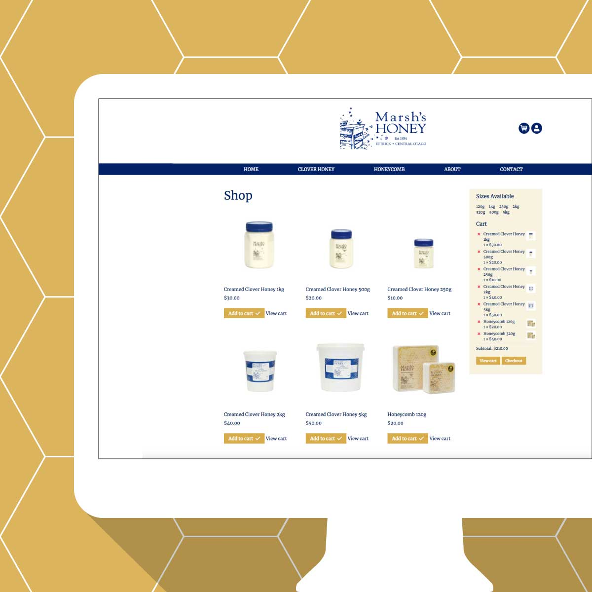 Marsh's Honey Shop Website
