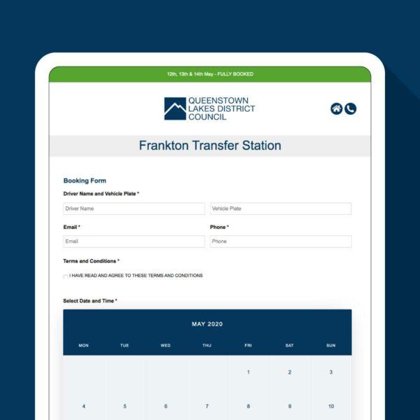 QLDC Booking Form Website